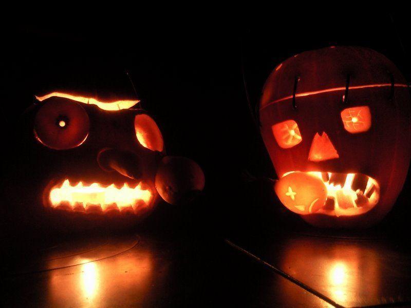 Calabazas de Samain, Halloween