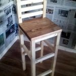 Furniture: High stool unpainted