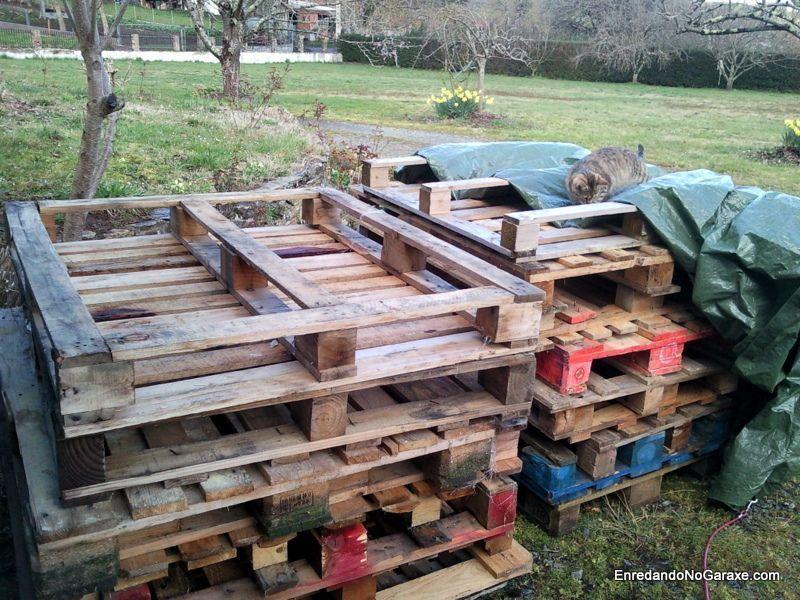 Palets para hacer compostadores