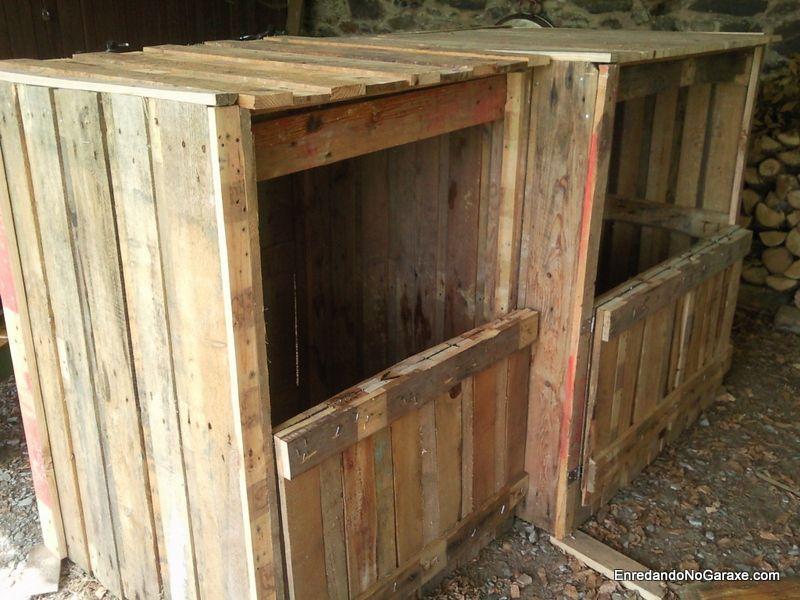 Cómo hacer un compostador con palets de madera