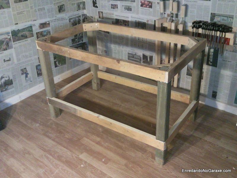 Estructura para mesa de taller