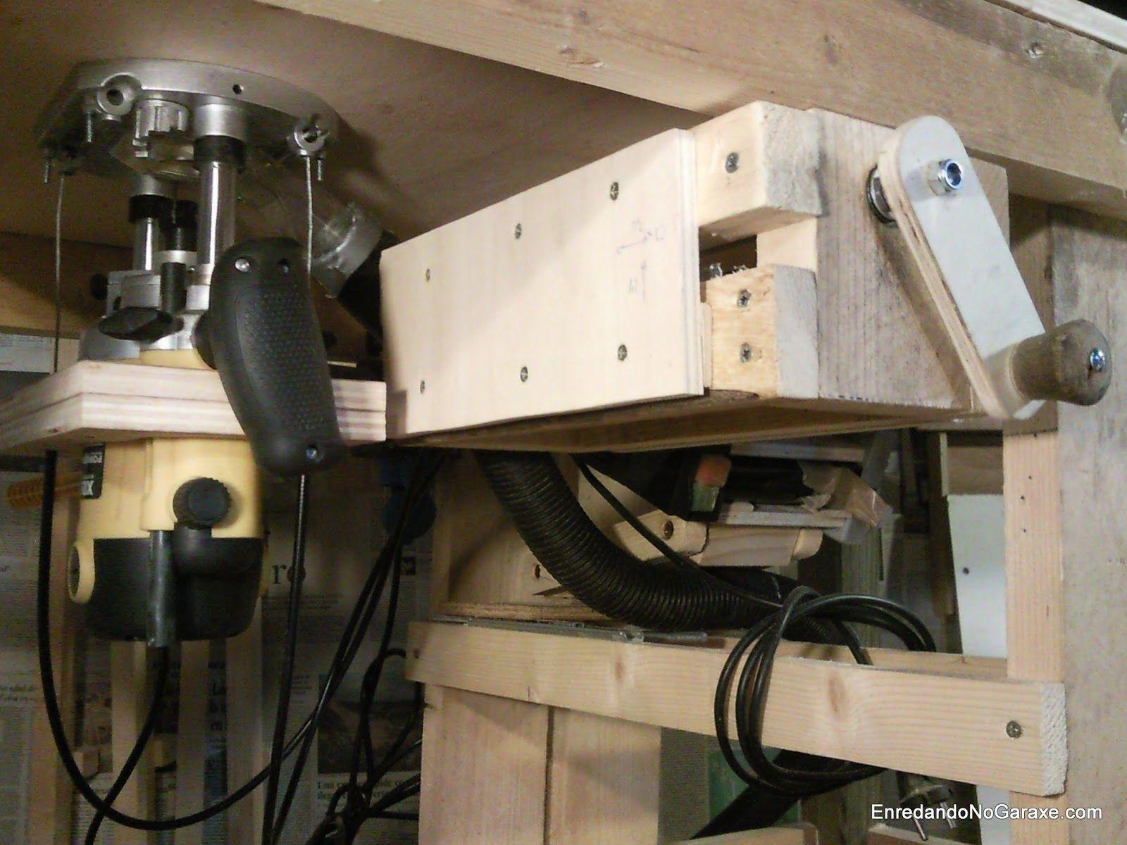Mesa fresadora y sistema de elevación. enredandonogaraxe.club