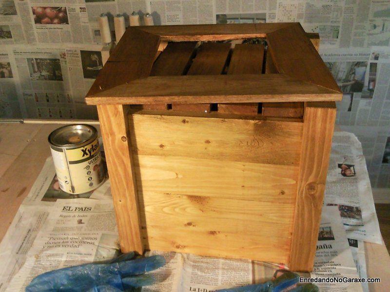 Como hacer un macetero usando madera de palets, parte 2