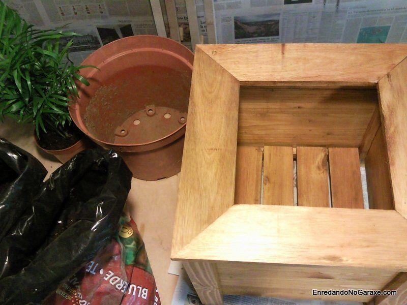 Como hacer un macetero de madera de palets