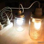 Make a lamp with a glass jar. enredandonogaraxe.club