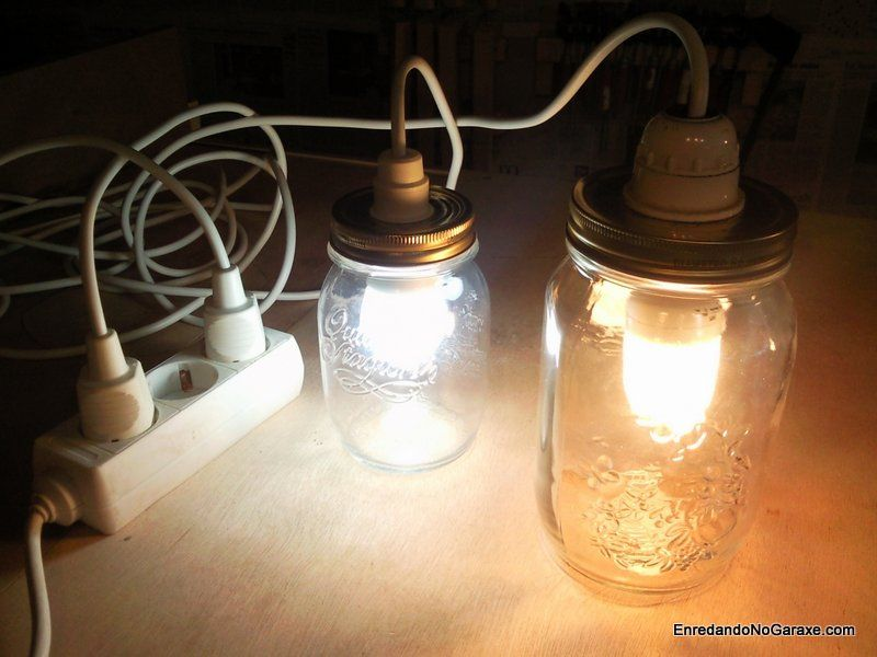 Hacer lámpara con tarro de cristal. enredandonogaraxe.club