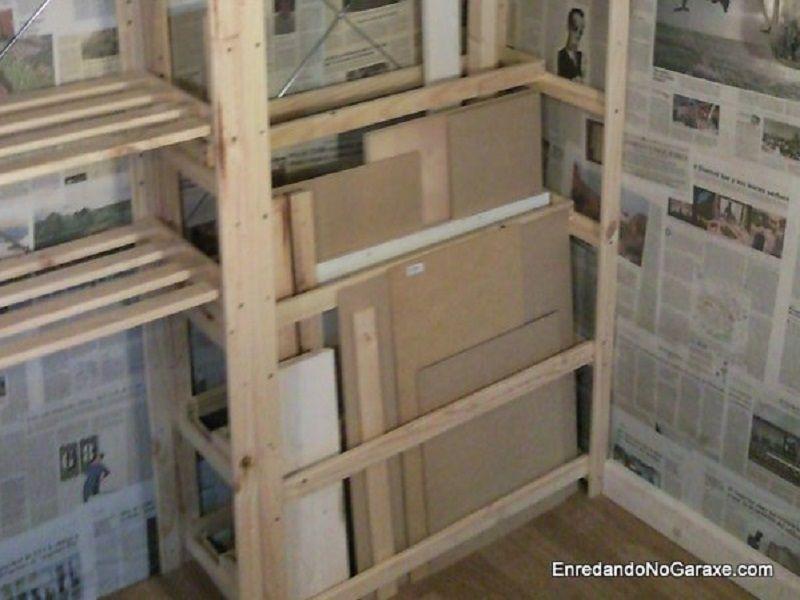 Estantes para almacenar madera