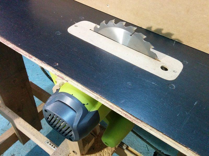 Nueva sierra de mesa casera
