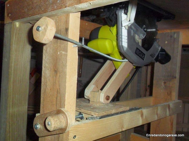 Sistema de elevación del disco de la sierra de mesa. enredandonogaraxe.club