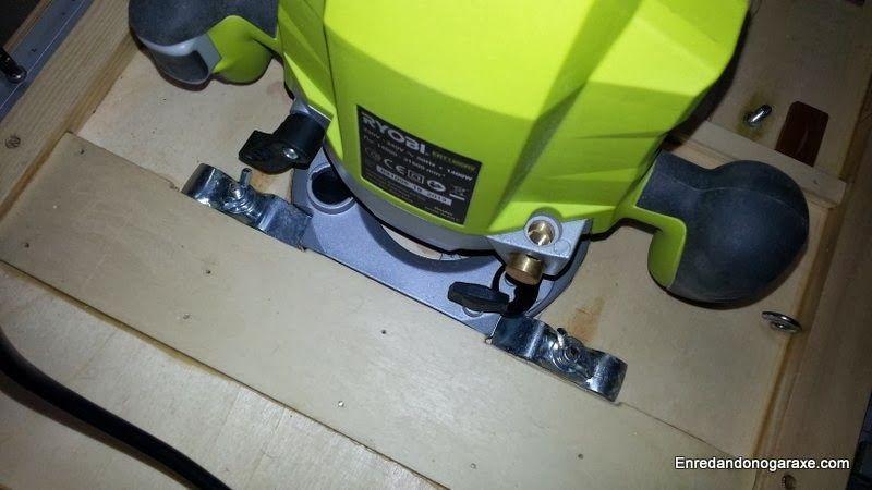 Fresadora debajo del tablero de la mesa. enredandonogaraxe.club