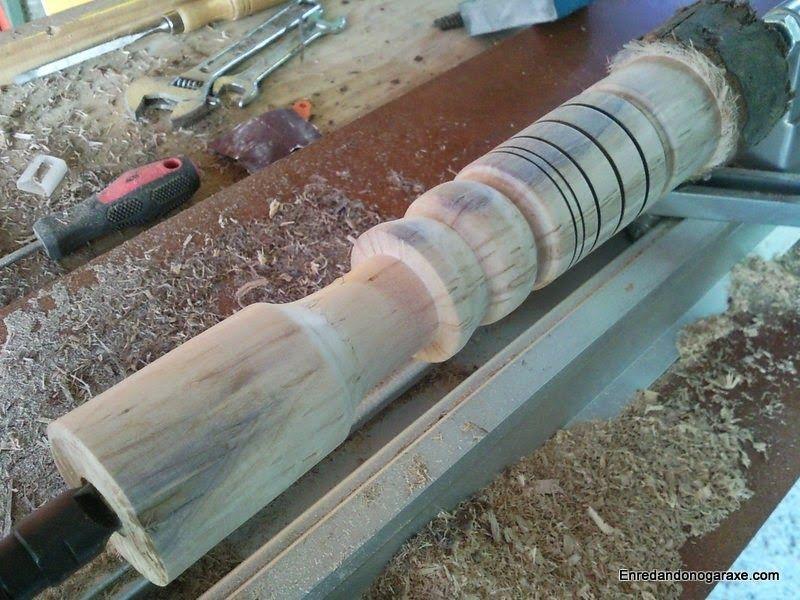 Torneando madera por primera vez