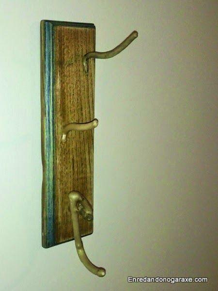 Hacer un colgador de pared con ramas
