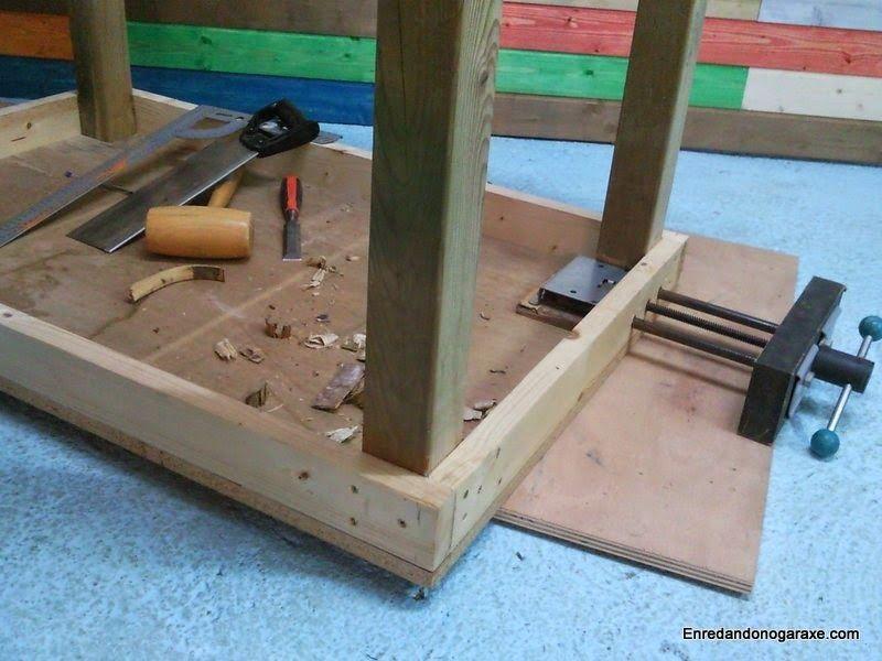 Instalar mordaza de banco de carpintero