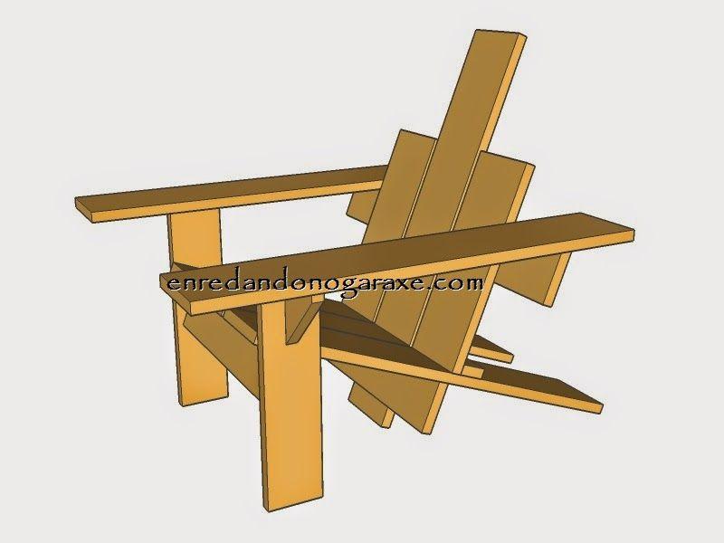 Planos de una silla de jardín de palet. enredandonogaraxe.club