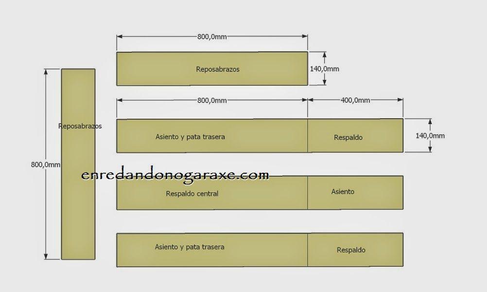Planos y diagrama de corte de las tablas anchas del palet. enredandonogaraxe.club
