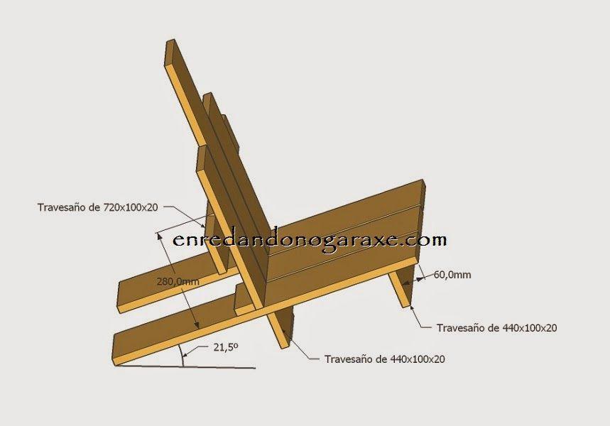 Planos y medidas para montar la silla