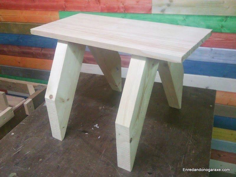Mesa de madera rar y fea. enredandonogaraxe.club