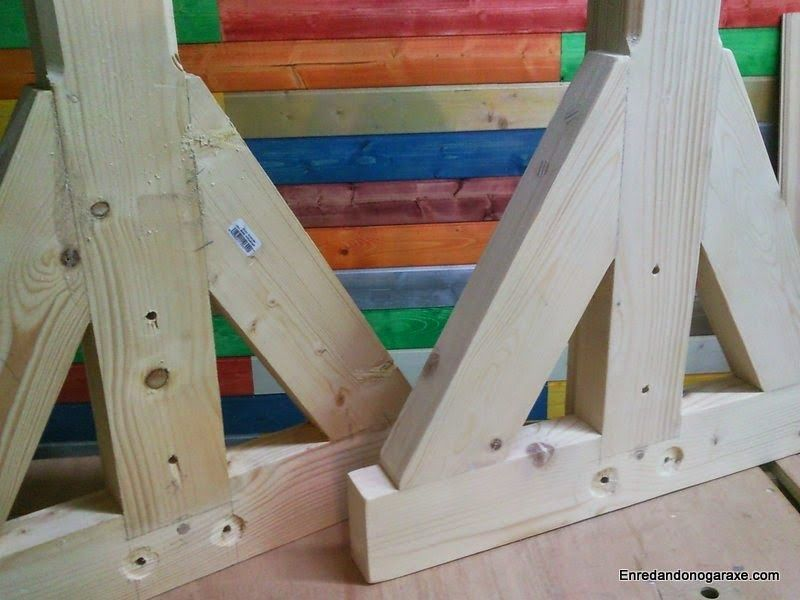 Soportes laterales para valla de madera