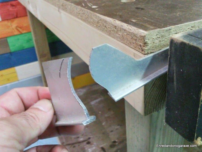 Cómo cortar aluminio con la sierra de marquetería. enredandonogaraxe.club