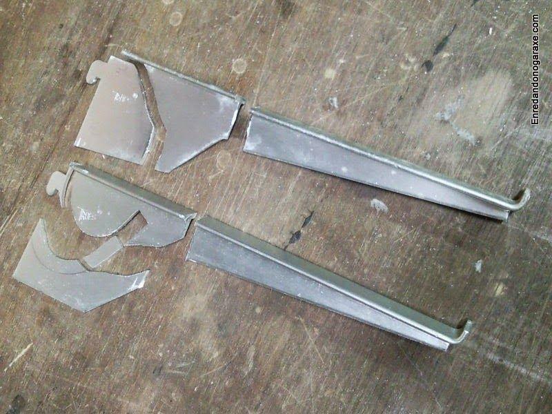 Cortar las piezas de aluminio con una sierra de marquetería. enredandonogaraxe.club