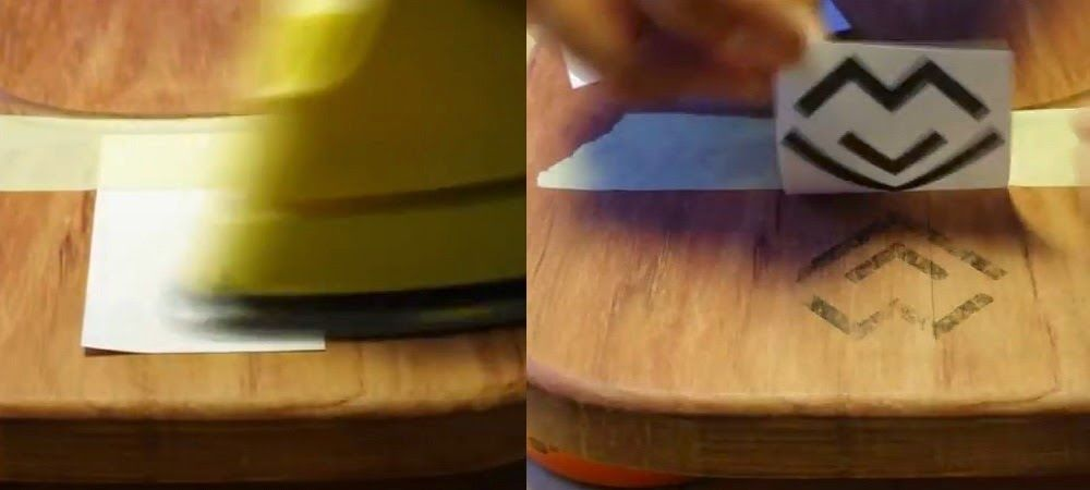 Cómo transferir imagen logo a madera