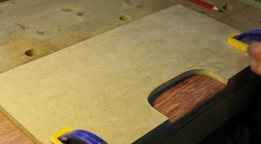 Guía para fresar agarres de madera