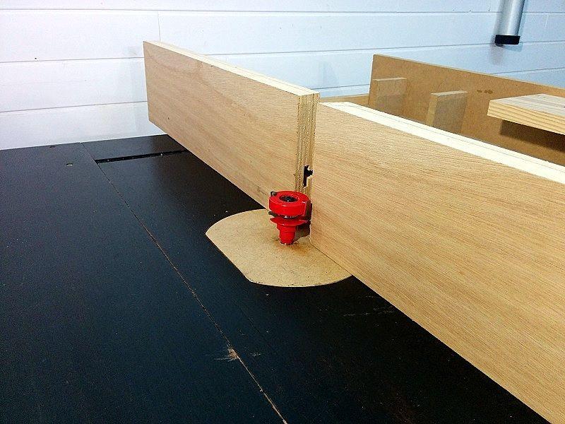 Mesa fresadora casera con sistema de elevación