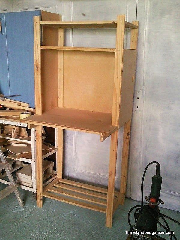 Pintar el armario de la ingletadora