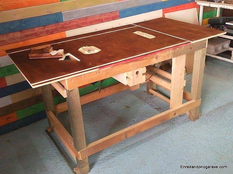 Mesa combinada pintada con tinte ngal