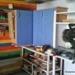Taller para grabar videos de carpinteria de madera en Español