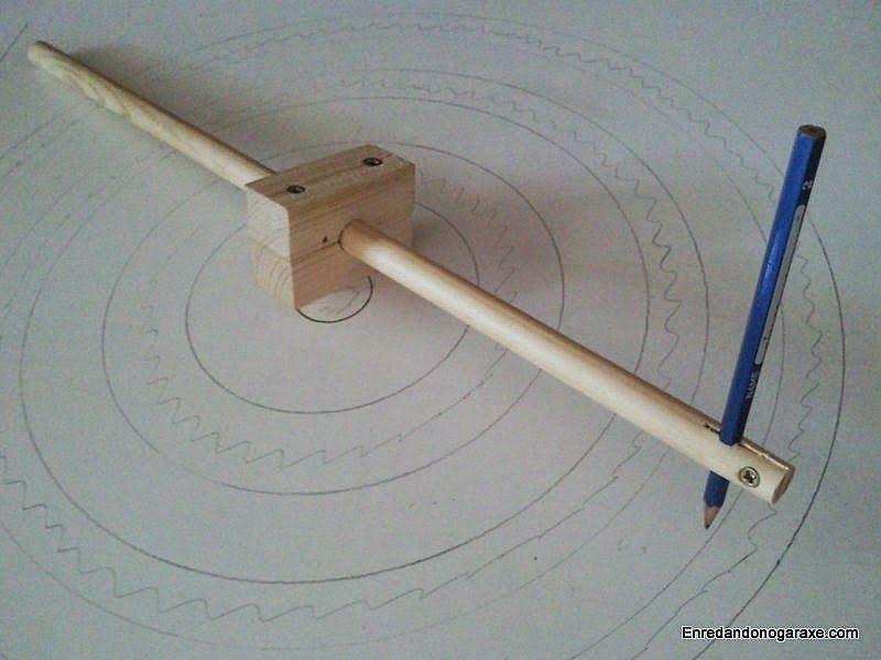 Cómo hacer un compás de varas de madera