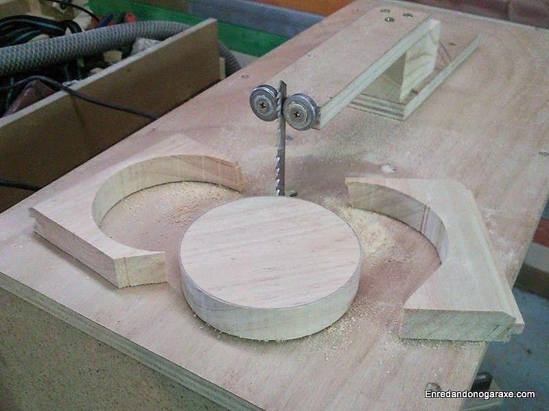 Cortar un círculo de madera