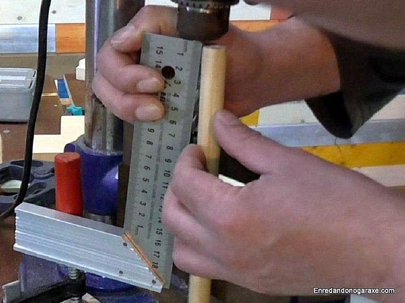 Medir la longitud para cortar el tope de profundidad