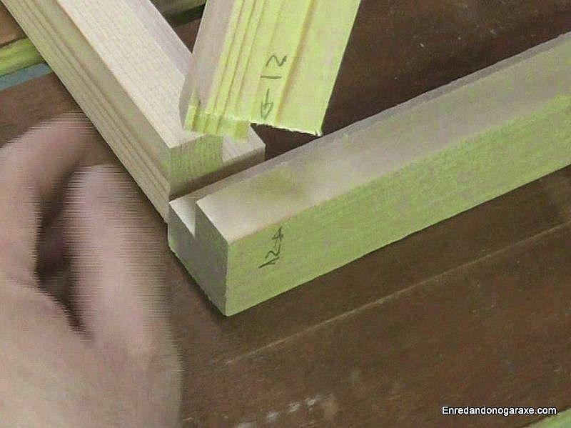 Numerar todas las uniones antes de agujerear para los tubillones