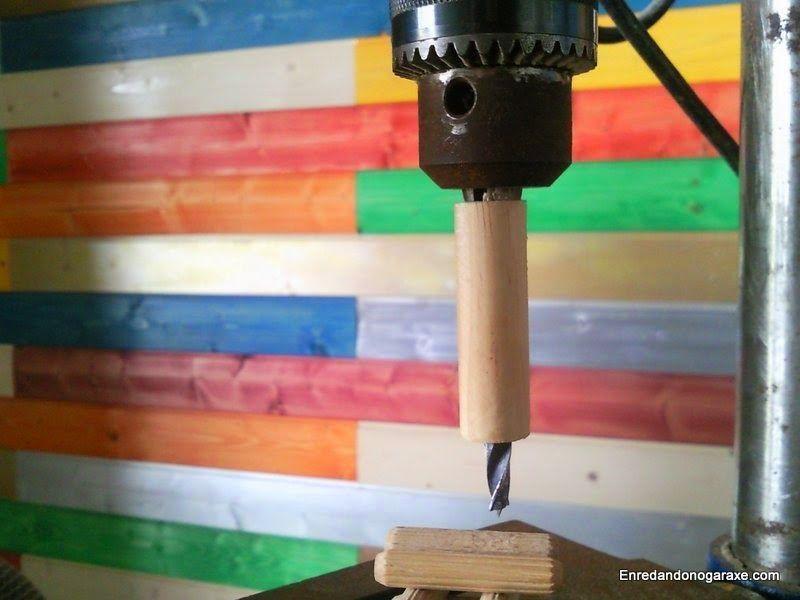Tope de profundidad para la broca del taladro de columna