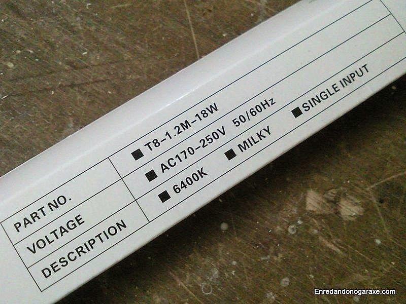 Características y temperatura de color del tubo led