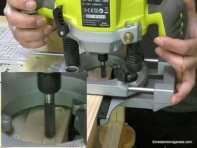 Fresar rebajo para chapa de una cerradura de embutir