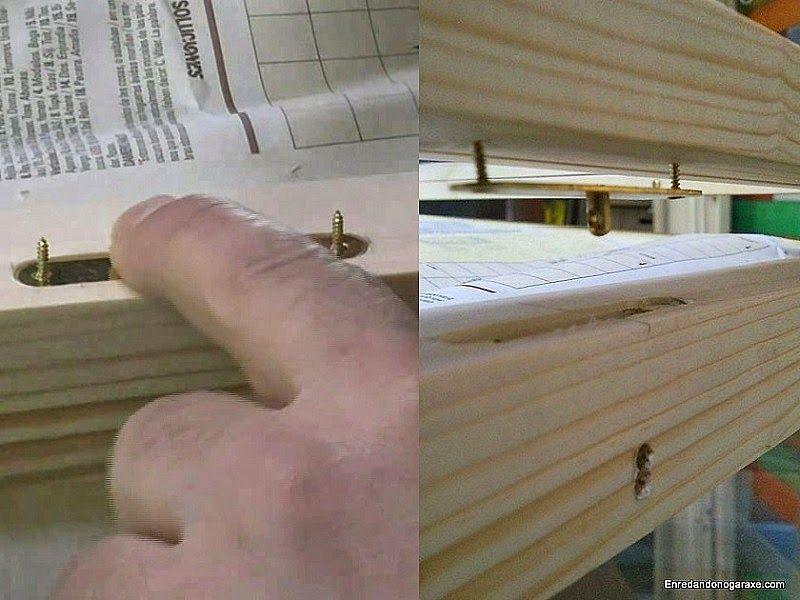 Marcar la posición de la contrachapa de la cerradura