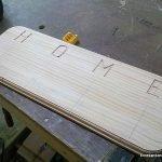 Tallar letras y hacer un letrero con la fresadora