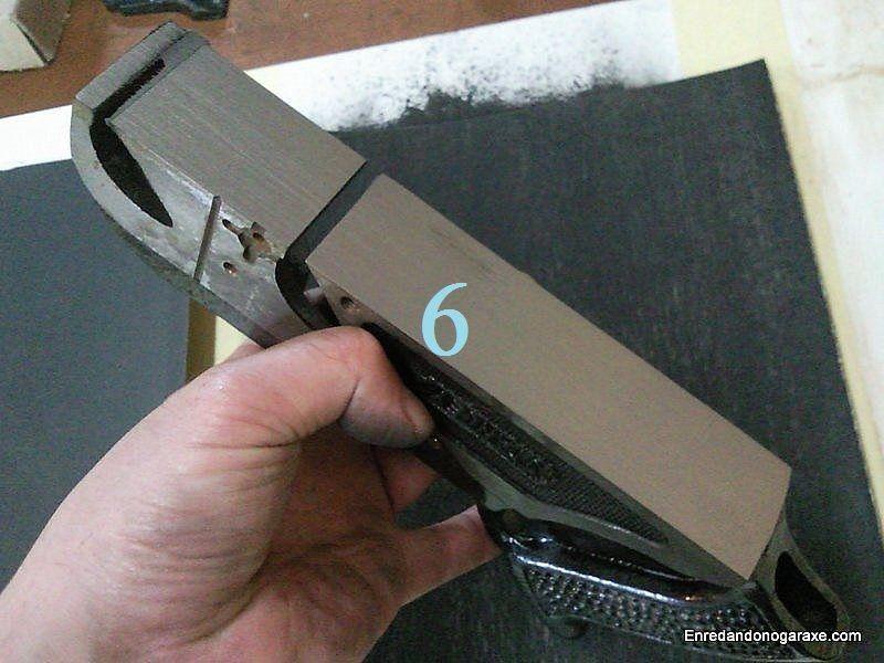 Cepillo de carpintero rectificado con tela esmeril