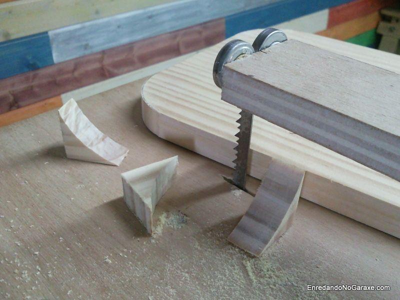 Cortar y redondear la esquinas del tablero