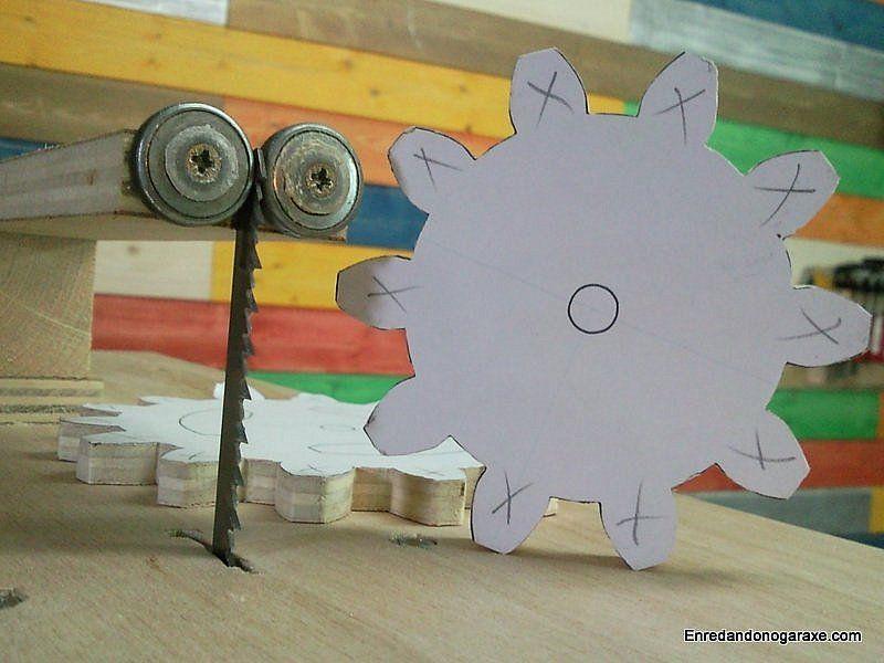 Cómo hacer engranajes de madera