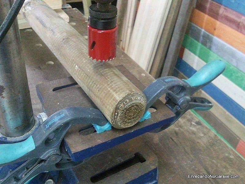 Evitar que tutores de madera giren en mesa del taladro