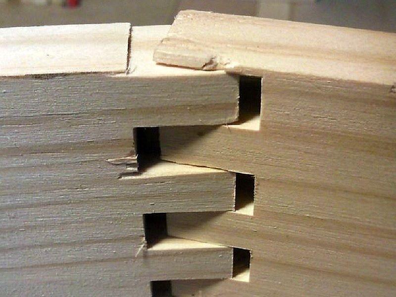 Cómo cortar uniones de carpintería