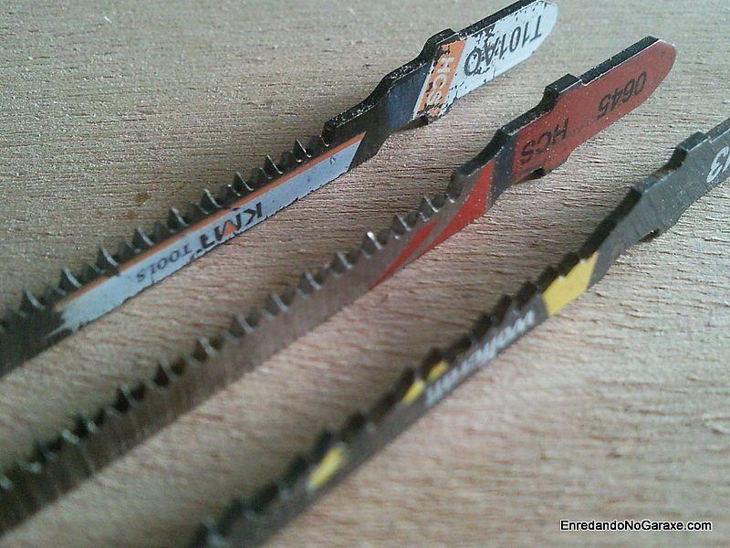 Dientes de las hojas de corte para sierra de calar
