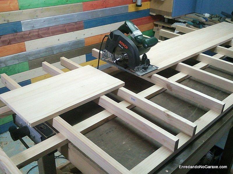 Mesa para cortar tableros con la sierra circular