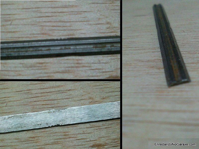 Cuchillas del cepillo eléctrico melladas