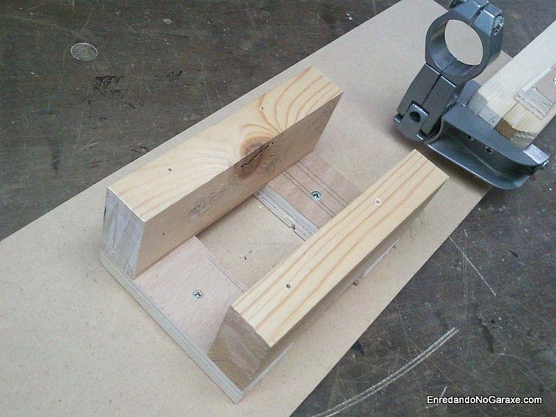 Soporte de madera para la mesa de la lijadora de disco