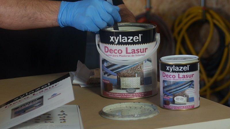 Aplicar lasur Xylazel decorativo efecto perla