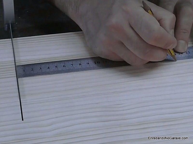 Medir y marcar los radios de corte en las líneas